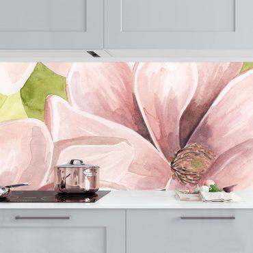 Küchenrückwand - Magnolie errötet II