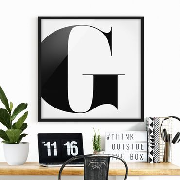 Bild mit Rahmen - Antiqua Letter G - Quadrat 1:1