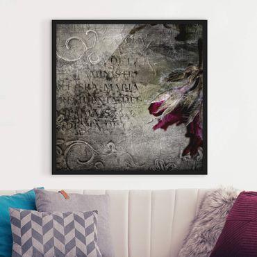 Bild mit Rahmen - Mystic Flower - Quadrat 1:1