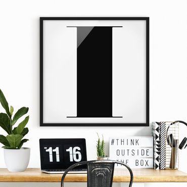 Bild mit Rahmen - Antiqua Letter I - Quadrat 1:1