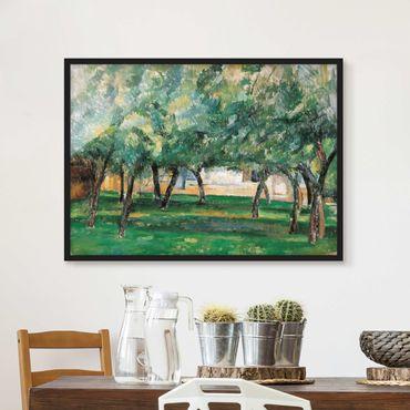 Bild mit Rahmen - Paul Cézanne - Gehöft Normandie - Querformat 3:4