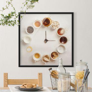 Bild mit Rahmen - Coffee Time - Quadrat 1:1