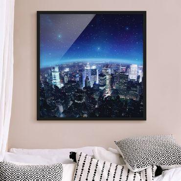 Bild mit Rahmen - Illuminated New York - Quadrat 1:1