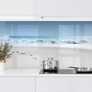 Küchenrückwand - Spuren im Sand