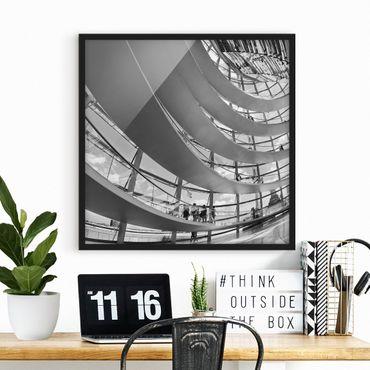 Bild mit Rahmen - Im Berliner Reichstag II - Quadrat 1:1