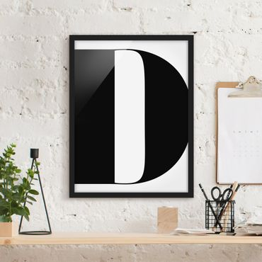 Bild mit Rahmen - Antiqua Letter D - Hochformat 3:4