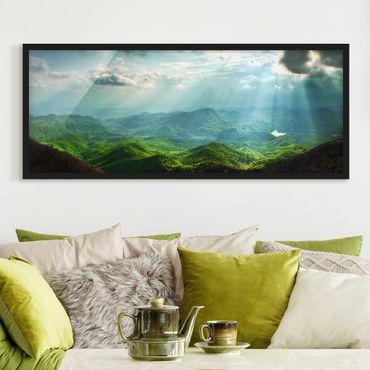 Bild mit Rahmen - Heavenly Ground - Panorama Querformat