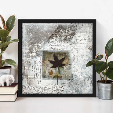 Bild mit Rahmen - Silvery Memories - Quadrat 1:1