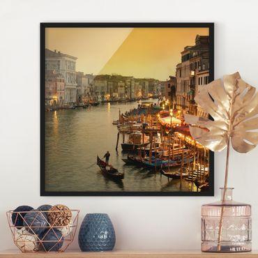 Bild mit Rahmen - Großer Kanal von Venedig - Quadrat 1:1