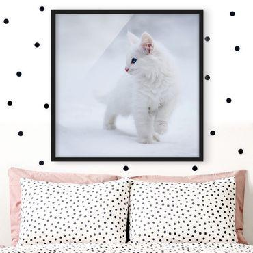 Bild mit Rahmen - Weiß wie Schnee - Quadrat 1:1