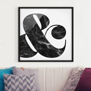 Bild mit Rahmen - Ampersand Marmor - Quadrat 1:1