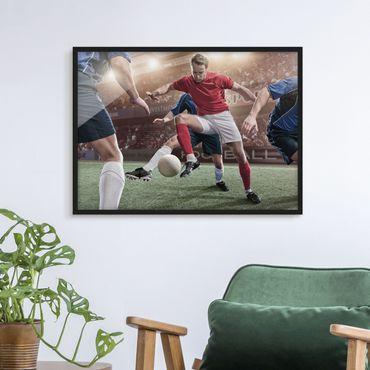 Bild mit Rahmen - Fußballrivalen - Querformat 3:4