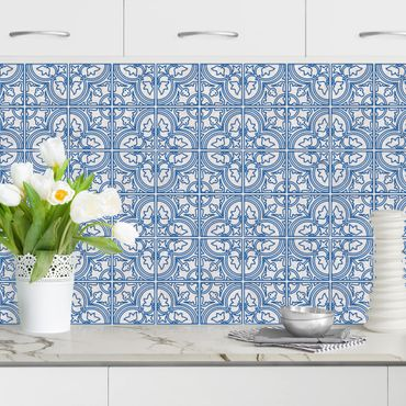Küchenrückwand - Fliesenmuster Faro blau