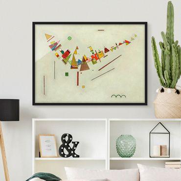 Bild mit Rahmen - Wassily Kandinsky - Winkelschwung - Querformat 3:4