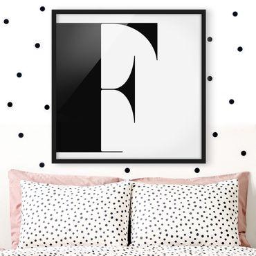 Bild mit Rahmen - Antiqua Letter F - Quadrat 1:1