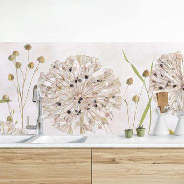 Küchenrückwand - Allium und Helenium Illustration