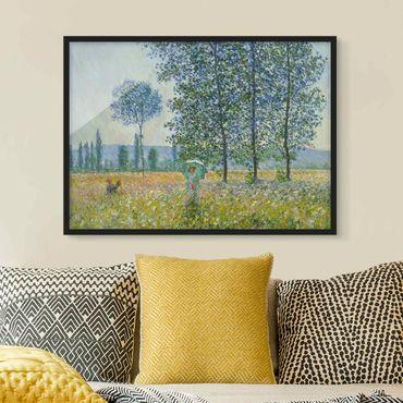 Bild mit Rahmen - Claude Monet - Felder im Frühling - Querformat 3:4