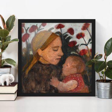 Bild mit Rahmen - Paula Modersohn-Becker - Junge Frau mit Kind - Quadrat 1:1