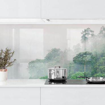 Küchenrückwand - Dschungel im Nebel