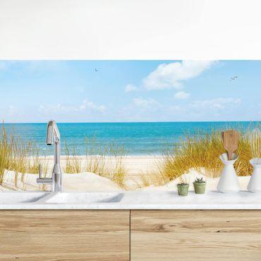 Küchenrückwand - Strand an der Nordsee