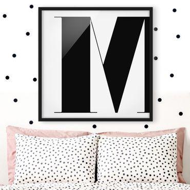 Bild mit Rahmen - Antiqua Letter M - Quadrat 1:1