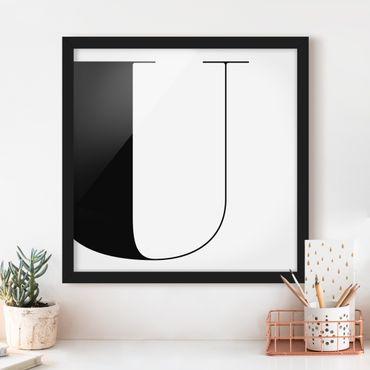 Bild mit Rahmen - Antiqua Letter U - Quadrat 1:1