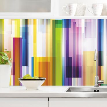 Küchenrückwand - Rainbow Cubes