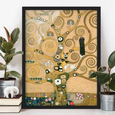 Bild mit Rahmen - Gustav Klimt - Der Lebensbaum - Hochformat 3:4