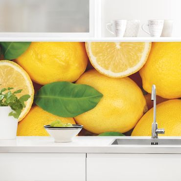 Küchenrückwand - Saftige Zitronen