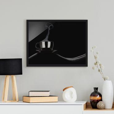 Bild mit Rahmen - Coffee in Bed - Querformat 3:4