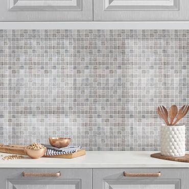Küchenrückwand - Mosaikfliesen Marmoroptik