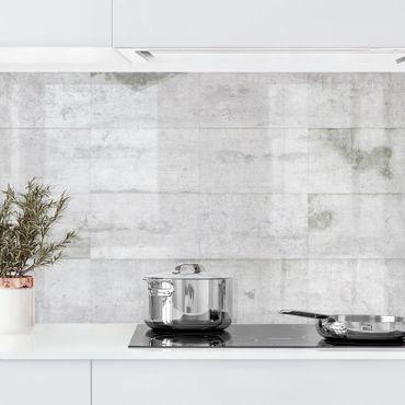 Küchenrückwand - Große Betonplatten