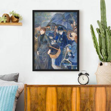 Bild mit Rahmen - Auguste Renoir - Die Regenschirme - Hochformat 3:4