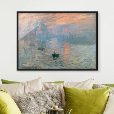 Bild mit Rahmen - Claude Monet - Impression - Querformat 3:4