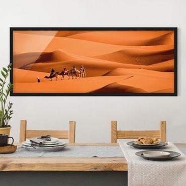 Bild mit Rahmen - Namib Desert - Panorama Querformat