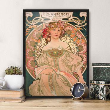 Bild mit Rahmen - Alfons Mucha - Plakat für F. Champenois - Hochformat 4:3