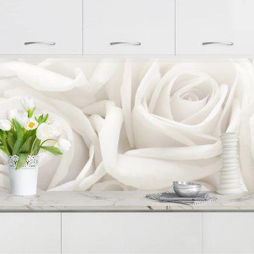 Küchenrückwand - Weiße Rosen