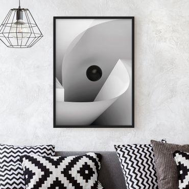 Bild mit Rahmen - Big Eye - Hochformat 3:4