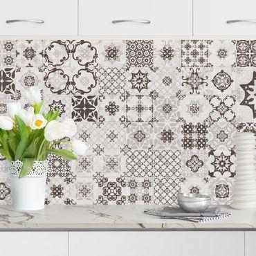 Küchenrückwand - Keramikfliesen Agadir grau