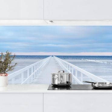 Küchenrückwand - Brücke in Schweden