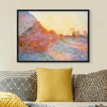 Bild mit Rahmen - Claude Monet - Strohschober - Querformat 3:4