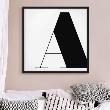 Bild mit Rahmen - Antiqua Letter A - Quadrat 1:1
