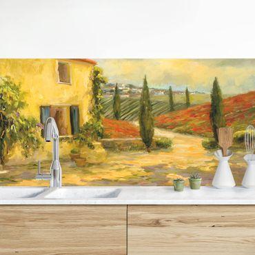 Küchenrückwand - Italienische Landschaft - Toskana