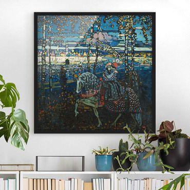 Bild mit Rahmen - Wassily Kandinsky - Reitendes Paar - Quadrat 1:1