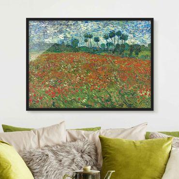 Bild mit Rahmen - Vincent van Gogh - Mohnfeld - Querformat 3:4