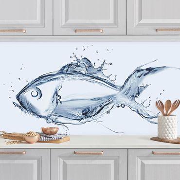 Küchenrückwand - Liquid Silver Fish II