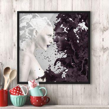Bild mit Rahmen - Milk & Coffee - Quadrat 1:1