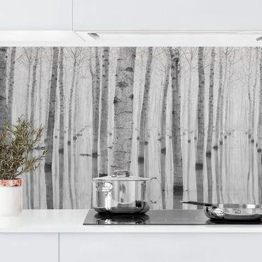 Küchenrückwand - Birken im November