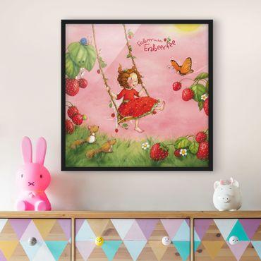Bild mit Rahmen - Erdbeerinchen Erdbeerfee - Baumschaukel - Quadrat 1:1