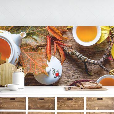 Küchenrückwand - Tee im September